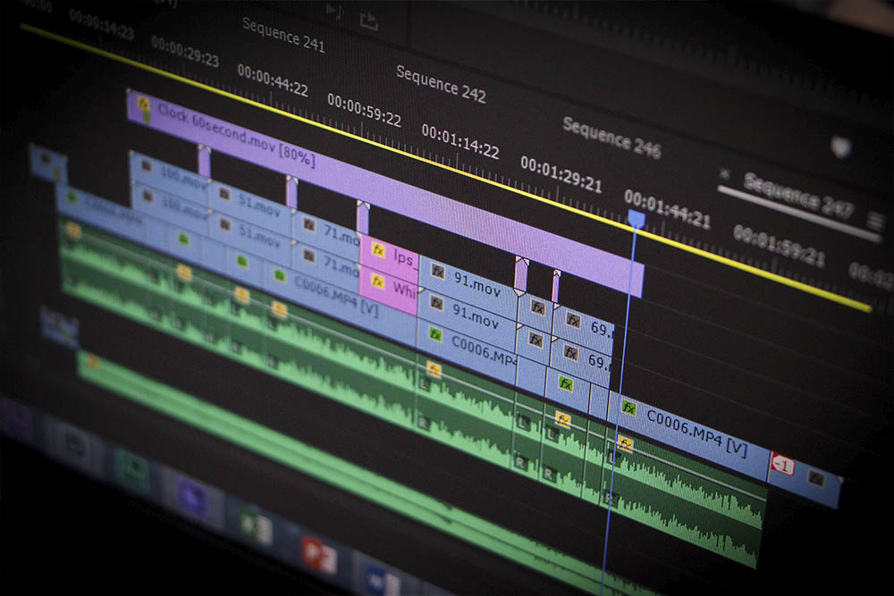 vierlaufende videoproduktion schnitt postproduktion