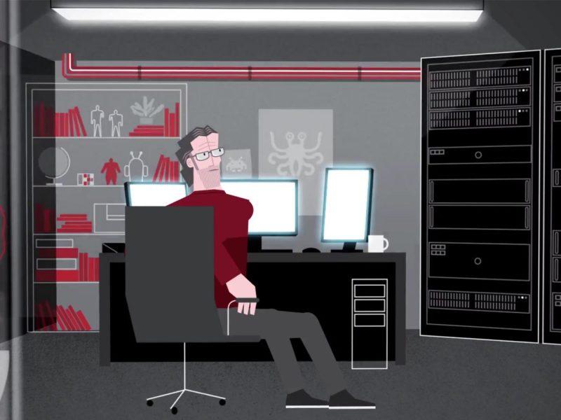 vierlaufende filmproduktion animation
