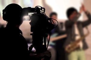 vierlaufende videodreh event kamera