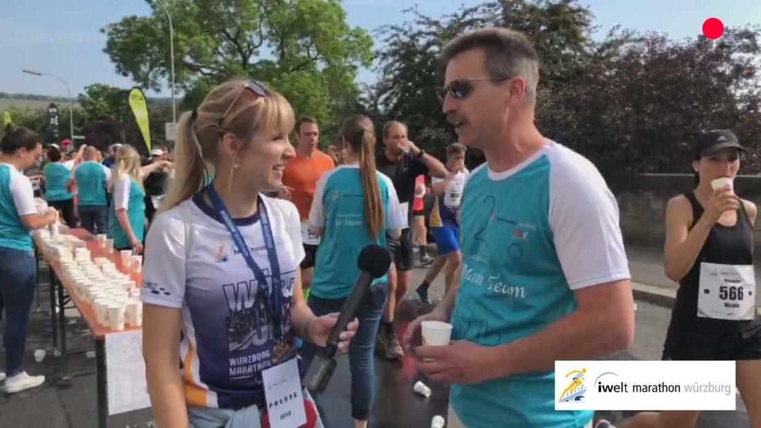 vierlaufende live video marathon würzburg