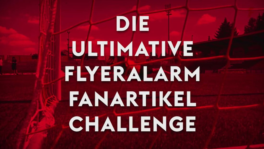 vierlaufende social media video flyeralarm challenge fc kickers